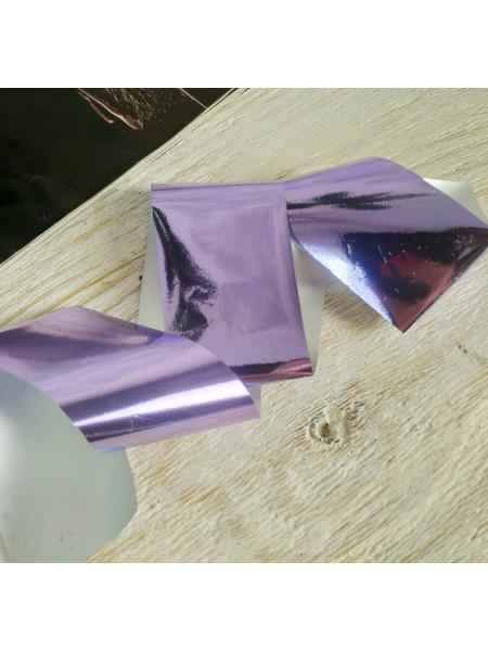 Фольга для дизайна ногтей сиреневая
