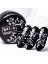 Гель-краска для дизайна ногтей без липкого слоя белая LUX, 5мл, Art-A