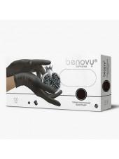 Перчатки термопластичный эластомер BENOVY, XL, чёрные, 200штук/100пар