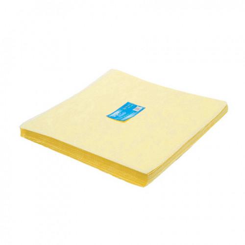 Салфетка одноразовая 40*40 SMS 20 жёлтый White line 200шт пачка