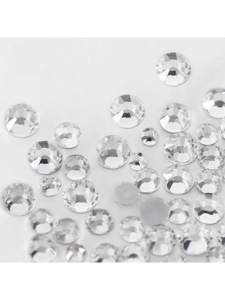 Стразы Crystal,стекло (Упаковка 1440 шт., размер ss3-ss20 mix)
