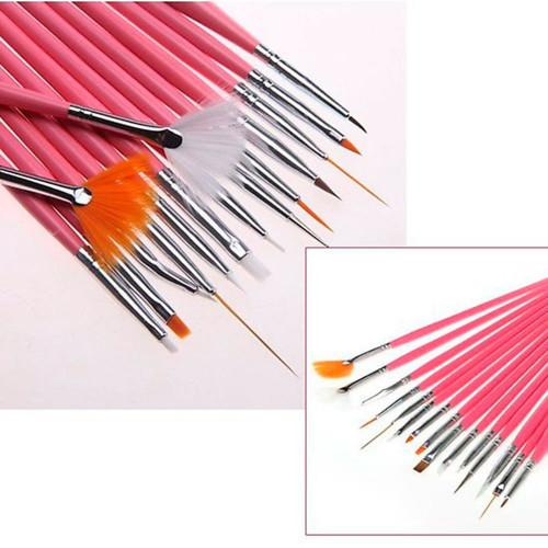 Набор кистей для дизайна ногтей (15 шт.)