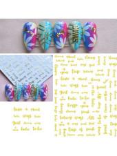 3D наклейки для дизайна ногтей №360