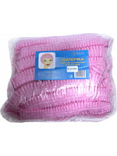 Шапочка-клип спанбонд розовая White line 50 шт.