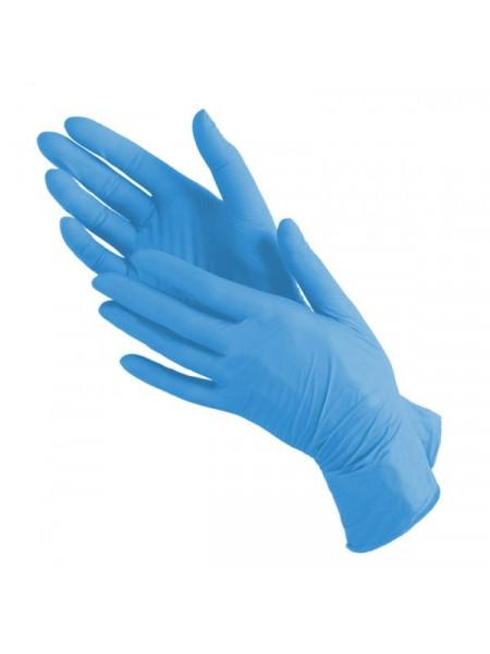 Перчатки нитриловые голубые Nitrile, S 50 пар.